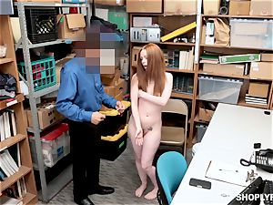 Ella Hughes plumbed nuts deep by naughty mall cop