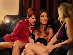 August Ames and Lily Cade rope on bed fucky-fucky