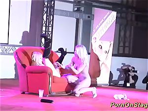 lesbo love on public show stage