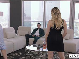 VIXEN naughty assistant Can't Hold Back Anymore In awesome three-way