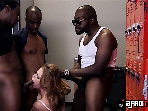 instructor Britney Amber gets a personal blowbang with BBCs