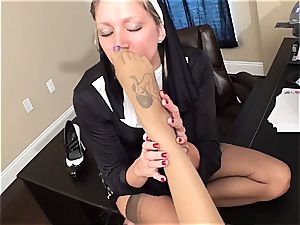 wild nun penalizes a bad dame with pleasuring her fetish thirst