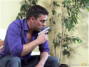 Kidnapping gets Kayla Kayden in the mood for some trouser snake