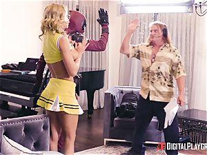 Jessa Rhodes gets fucked by strung up superhero