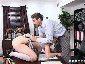 horny schoolgirl Lena Paul boinked by headmaster