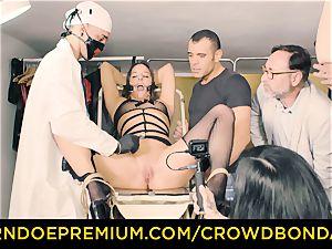CROWD restrain bondage enslaved Amirah Adara first-ever time sadism & masochism