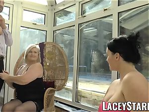 LACEYSTARR - Pascal porking Lacey Starr and her acquaintance