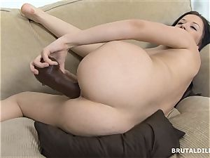 honey with fat butt Riya rotating inbetween brutal dildos