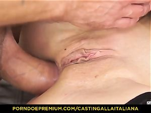 casting ALLA ITALIANA - Blue-eyed nymph gets booty nailed