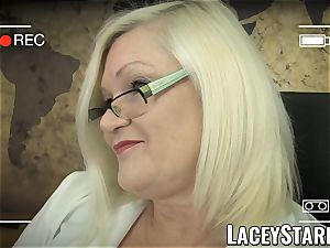 LACEYSTARR - GILF heals patient with lesbian orgasm