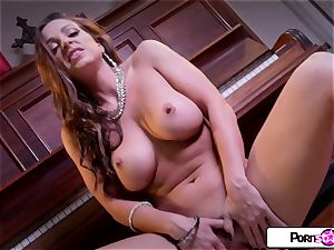Abigail Mac showcase you how much she likes to cum for you