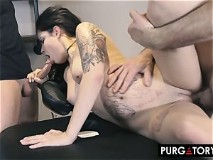 PURGATORY I let my wife screw two dudes in front of me