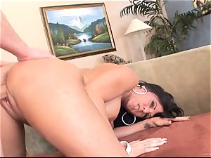 Kendra Secrets gets her gash packed with stiff fuckpole
