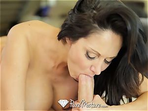 PUREMATURE Ava Addams interrupts phone call for fuck