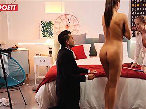 LETSDOEIT mischievous Artist pulverizes sizzling Spanish couple