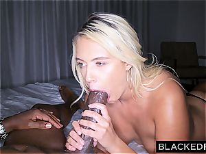 Wannabe film star moans while being porked by black film producer