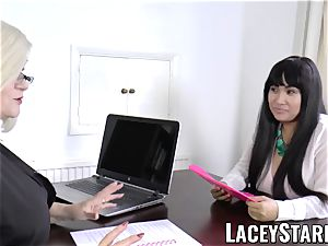 LACEYSTARR - business GILF tongue inspects young vulva