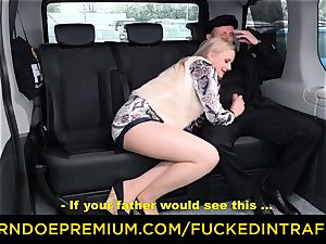 plumbed IN TRAFFIC - light-haired queen pummeled deep