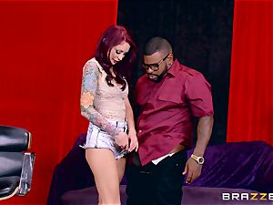 Monique Alexander getting her appetizing twat romped by a ebony sausage