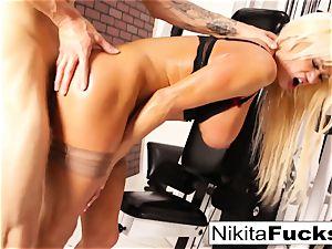 Nikita Von James joins a exercise fuck-fest
