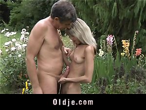 Gina Gerson gets rectal from an old man