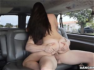 Karlee Grey picked up and inserted on the Bangbus