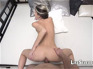 Gina Gerson - small damsel playing with a hefty Dick(POV)