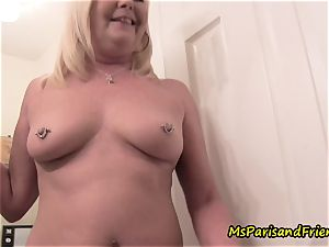 mother Plays with Herself The Has piss urinate have fun Time