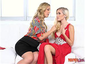 labia pie stepmom seduces her stepdaughter Naomi woods & Cherie Deville