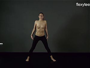 FlexyTeens - Zina shows nimble nude body