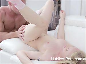 Nubiles pornography - cum cascading down platinum-blonde lovelies face
