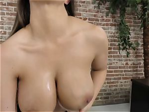 huge-chested beauty Brooklyn chase point of view poke
