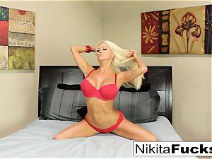 Nikita gets a giant ebony pecker