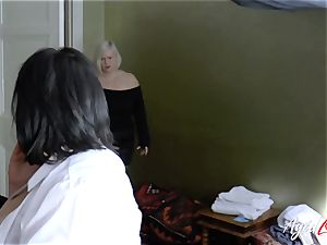 AgedLovE big-chested motel Maid Lacey Starr 3 way