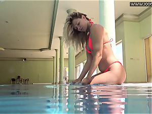 famous Mary Kalisy is swimming bare for XXXWATER