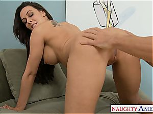 Pretty Rachel Starr opens up for a munching and a ravaging