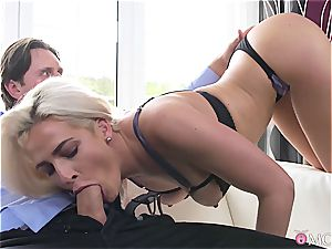 Nicole Vice gets shagged like a doggy in warmth by her husband