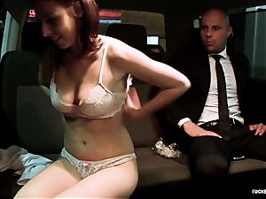 pounded IN TRAFFIC - super hot car pummel with magnificent Czech babe