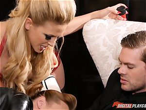 puss beating the insane orgy gimp maid Britney Amber