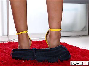LoveHerFeet - giant tits Bridgette Gives a professional FootJob