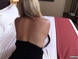 super-steamy blond milf internal ejaculation sensation