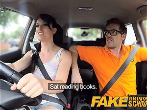 fake Driving school dirty creampie orgasm