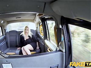 fake cab ash-blonde mummy Victoria Summers nailed in a cab