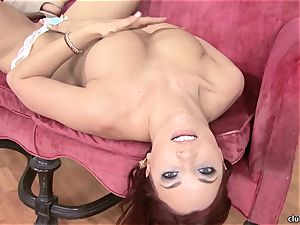 Jayden Cole whips out her saucy lush jugs