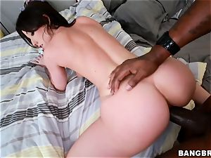 Jennifer white handles herself to a black man meat in her rump