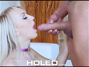 HOLED rectal pulverizing pound with lil' blonde Kira Thorn