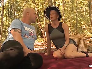 LA newcomer - French mature newbie anal invasion pummeled outdoors