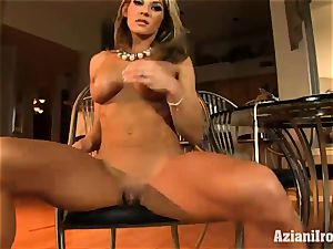 rock-hard bodied Abby shows off her rocking figure