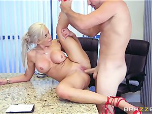 rigorous buxom chief Nina Elle exploits its employees during a date