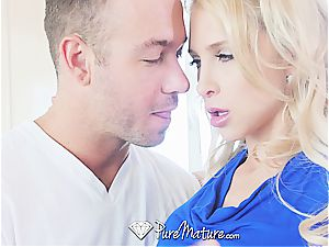 PureMature lash testicle tonic kitchen bang with Alix Lynx